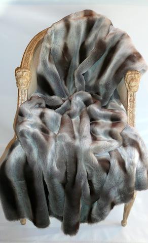 Chinchilla Dark Grey Light Grey Faux Fur Throw 54 Quot X 72